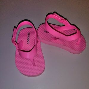 0ld Navy Toddler Girls Pink Sandals Shoes Size: 3
